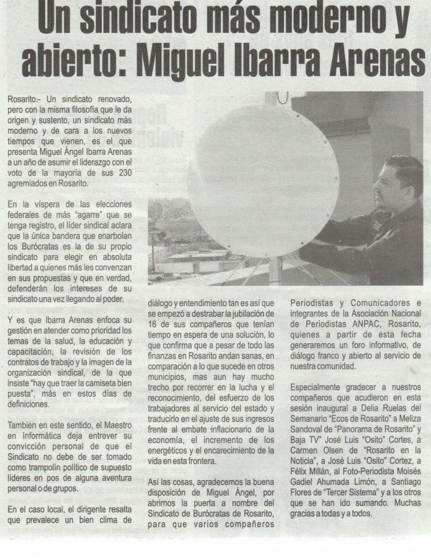Miguel Angel Ibarra Arenas